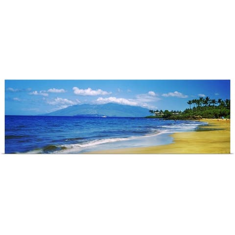 """Surf on the beach, Kapalua Beach, Maui, Hawaii"" Poster Print"