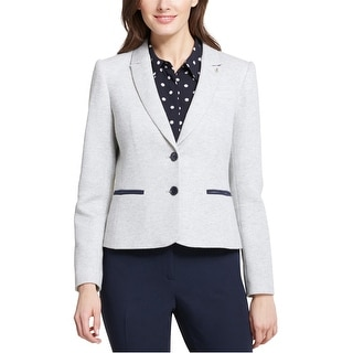 Link to Tommy Hilfiger Womens Sweatshirt Two Button Blazer Jacket, Grey, 10 Similar Items in Suits & Suit Separates