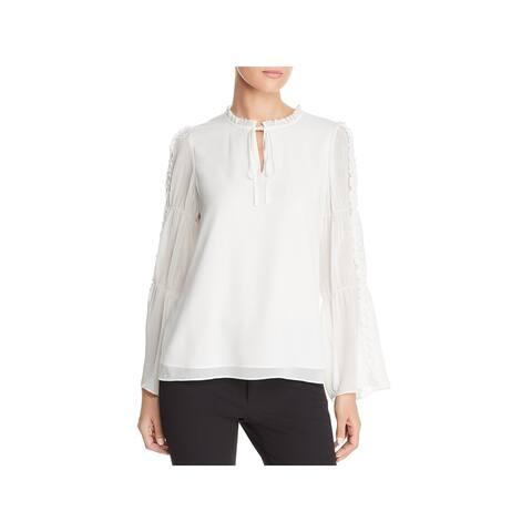 Karl Lagerfeld Womens Blouse Pearl Long Sleeves