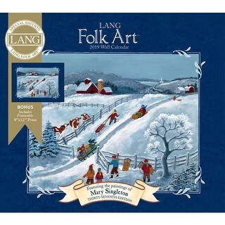 2019 Lang Folk Art Special Edition 2019 Wall Calendar, Lang Folk Art by Lang Com
