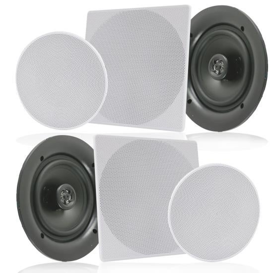 "10.0"" In-Wall / In-Ceiling Speakers, 2-Way Flush Mount Home Speaker Pair, 300 Watt"