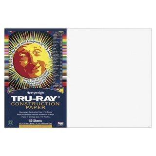 Tru-Ray Sulphite Construction Paper, 12 x 18 Inches, White, 50 Sheets
