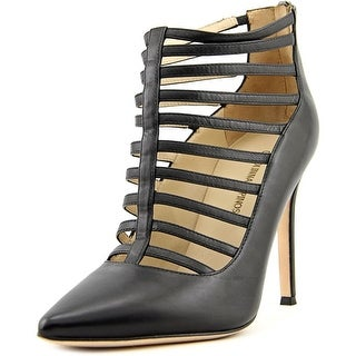 Carolinna Espinosa Corin Pointed Toe Leather Heels