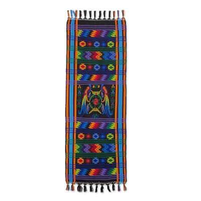 "Handmade Ebony Quetzal Cotton Table Runner (Guatemala) - 46"" L x 18"" W"