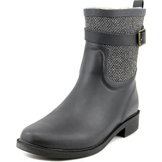 Chooka Buckled Herringbone Round Toe Synthetic Rain Boot