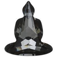 Swarovski Elements Crystal, 4779 Buddha Fancy Stone 18x15.6mm, 1 Piece, Crystal Silver Night