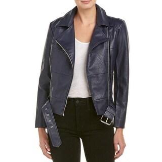 BB Dakota NEW Navy Blue Womens Size Small S Maria Motorcycle Jacket