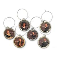 Outlander Character Series 6-Piece Wine Charm Set - Multi