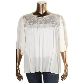 K&C Womens Blouse Lace Yoke Bell Sleeve - xL