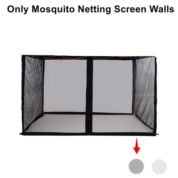 Outdoor Patio Garden Mosquito Net Gazebo Screenroom Zippered Mesh Sidewalls For 10x 10 Gazebo And Tent Overstock 31519318