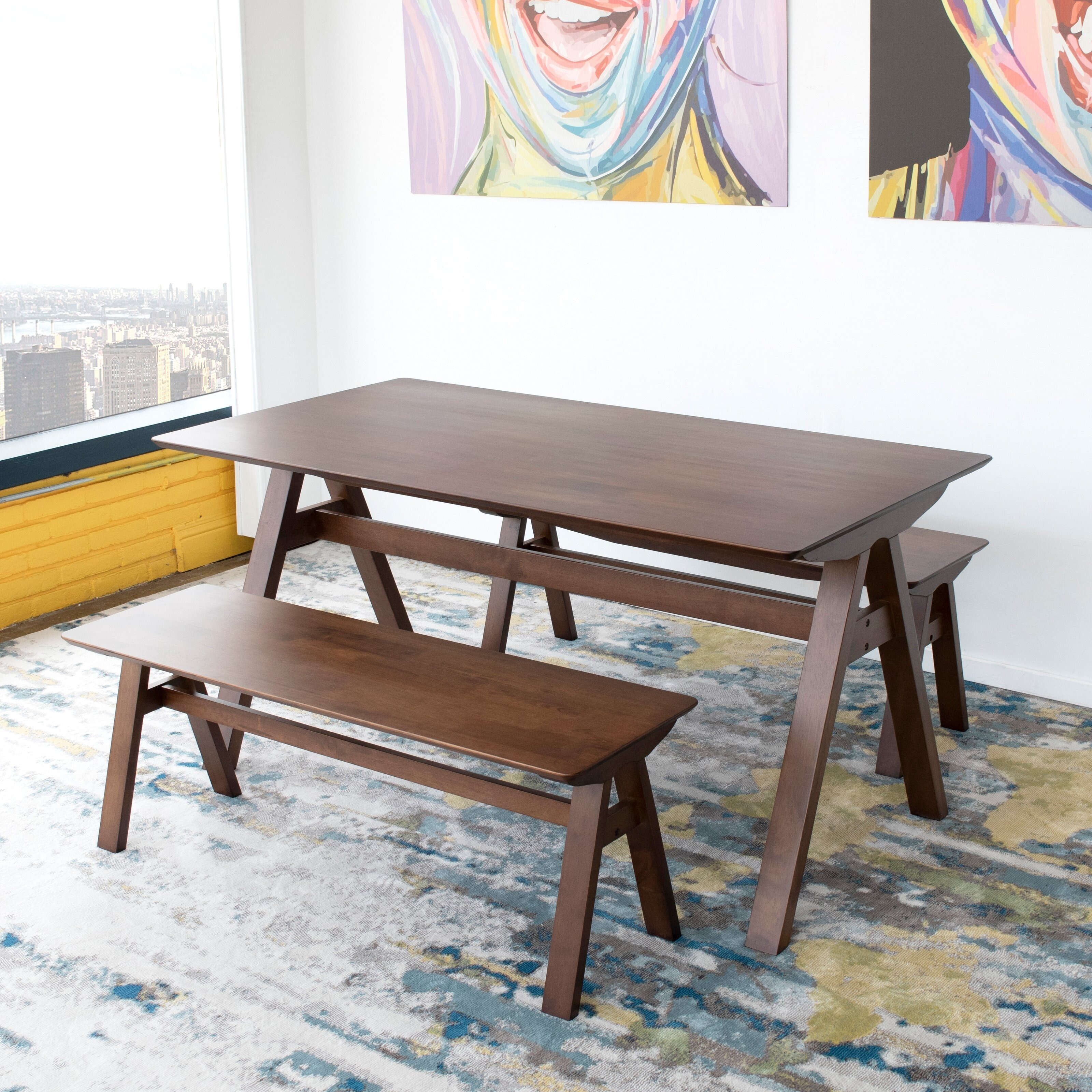 Mid Century Modern Cabrillo Solid Wood Dining Table 29 5 H X 59 W X 31 5 D On Sale Overstock 32243564