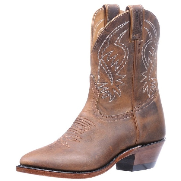 Boulet Western Boots Womens Leather Cowboy Hillbilly Golden