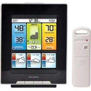 Acurite 02007 Digital Home Weather Station With Morning Noon And Night Precision Forecast,Temperature And Humidity Gauge