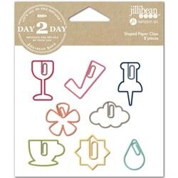 Wine - Day 2 Day Planner Shaped Clips 8/Pkg