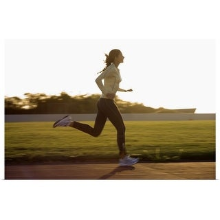 """Woman running"" Poster Print"
