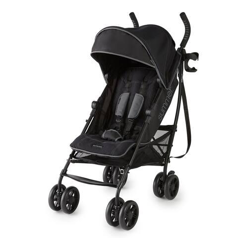 Summer 3Dlite+ Convenience Stroller, Matte Black - 33 x 19.5 x 43 inches