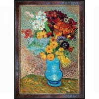 Vase with Daisies and Anemones by Vincent Van Gogh Framed Hand Painted Oil on Canvas