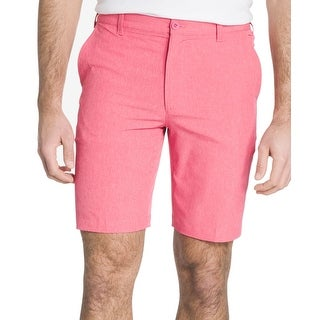 IZOD Pink Mens Size 42 Button-Front Stretch Golf Casual Shorts