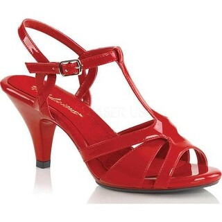 Fabulicious Women's Belle 322 T-Strap Sandal Red Patent/Red