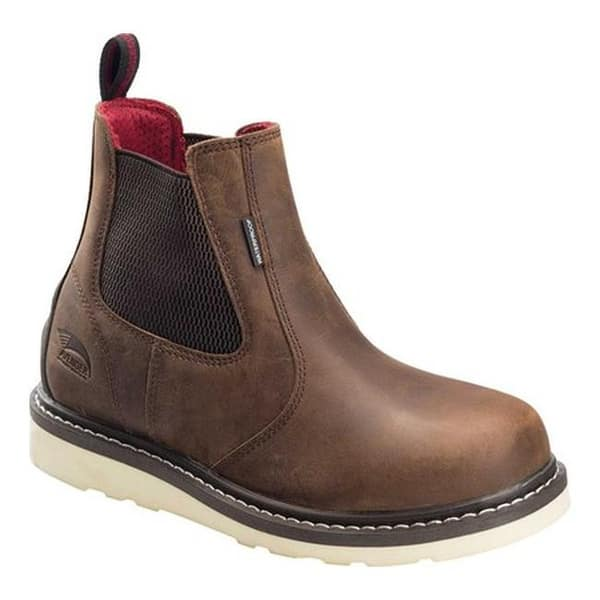 019ccb936b6 Avenger Men's A7510 Soft Toe Waterproof Wedge Chelsea Boot Brown Leather