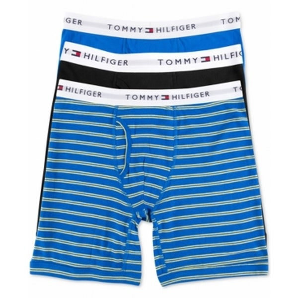 880f89c9 Shop Tommy Hilfiger NEW Blue Mens Size XL 3-Pack Boxer Brief Underwear -  Free Shipping On Orders Over $45 - Overstock - 19575185