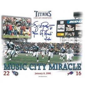 Music City Miracle signed Tennessee Titans 8x10 Photo w/ Kevin Dyson signature