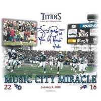 Music City Miracle signed Tennessee Titans 8x10 Photo w Kevin Dyson signature