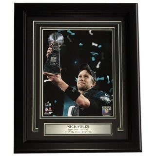 Nick Foles Framed 8x10 Eagles Super Bowl 52 LII Trophy Champions Photo