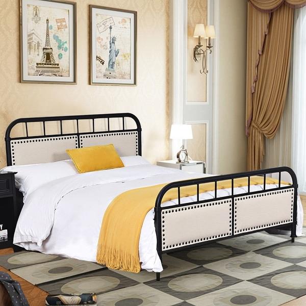 Shop Costway Full Size Metal Bed Frame Platform Bed