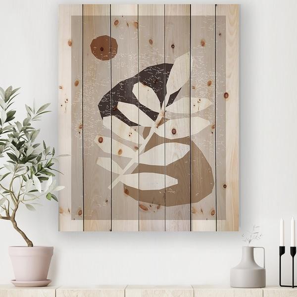 Designart 'Minimal Elementary Organic And Geometric Compostions XXXXXXXXVI' Modern Print on Natural Pine Wood. Opens flyout.