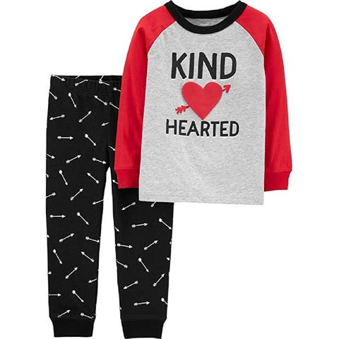Carter's Baby Boys' 2-Piece PJs, Kind Hearted, 3 Months