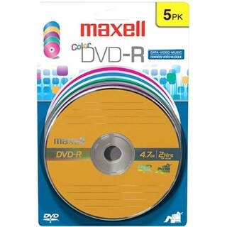 Maxell 638033 Maxell 16x DVD-R Media - 4.7GB - 120mm Standard - 5 Pack Blister Pack