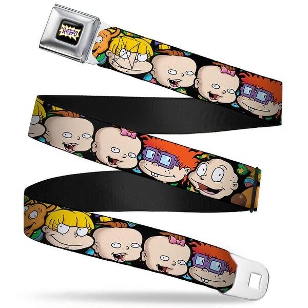 Rugrats Logo Rugrats Character Faces Close Up Webbing Seatbelt Belt Fashion Seatbelt Belt