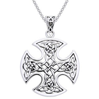 Link to Sterling Silver Celtic Knotwork Cross Necklace Similar Items in Necklaces