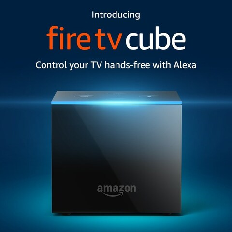 Amazon Fire TV Cube - Hands-Free Streaming Media Player with Alexa and 4K Ultra HD - Black