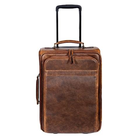 Scully Western Travel Bag Aerosquadron Wheeled Walnut - One Size