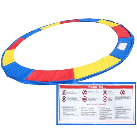 Gymax 14 FT Trampoline Safety Pad EPE Foam Spring Cover Frame