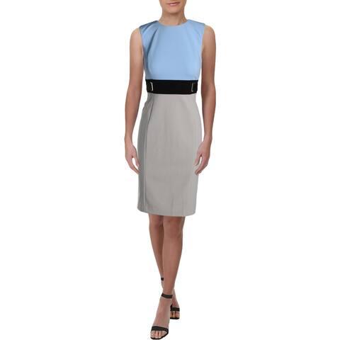 Calvin Klein Womens Wear to Work Dress Colorblock Sleeveless - 8