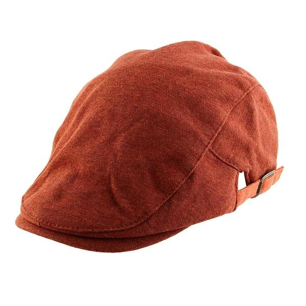 138952deafb6a4 Men Women Vintage Style Newsboy Duckbill Ivy Cap Driving Beret Hat Brick Red