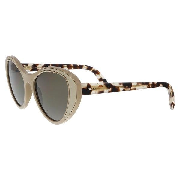 4adda2f3493 Shop Prada PR 14US 02R5S2 Beige Cat eye Sunglasses - 55-18-140 ...