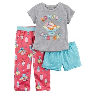 Carter's Little Girls' 3-Piece Jersey PJs, 5 Kids - Print