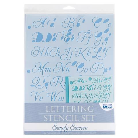 Alvin bhs104set lettering stencil set simply sincere
