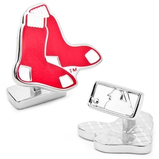 Sterling Silver Boston Red Sox Cufflinks