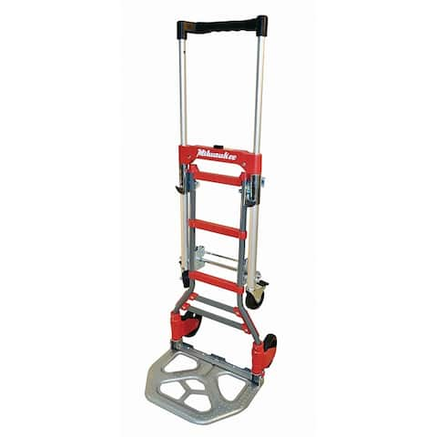 Milwaukee 73333 2-In-1 Fold-Up Convertible Hand Truck, 150/300 Lb Capacity