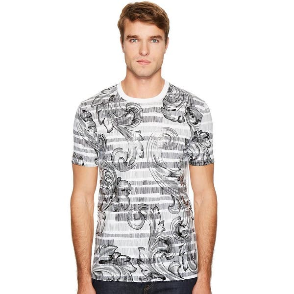 766d5819 Shop Versace Collection Mens Baroque Print T-Shirt Medium M Black ...