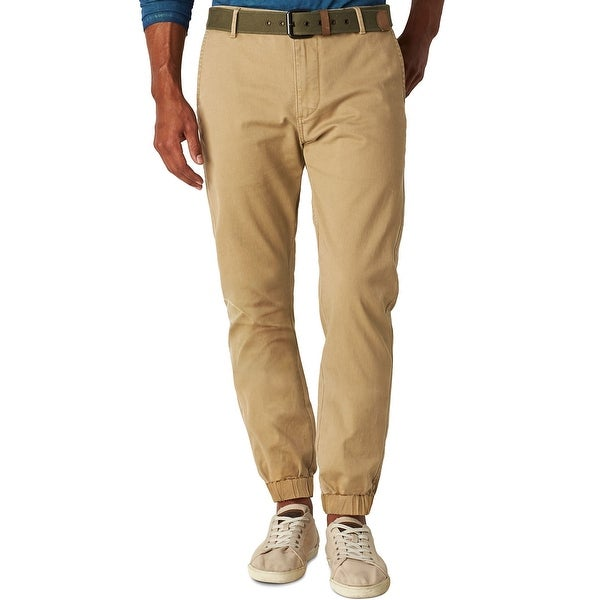 Dockers Mens Alpha Athletic Fit Jogger Pants Desert Sand Khaki 34 x 30