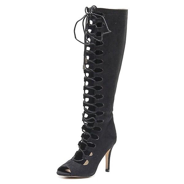 Thalia Sodi Womens Eeva Peep Toe Special Occasion Strappy, Black, Size 6.0