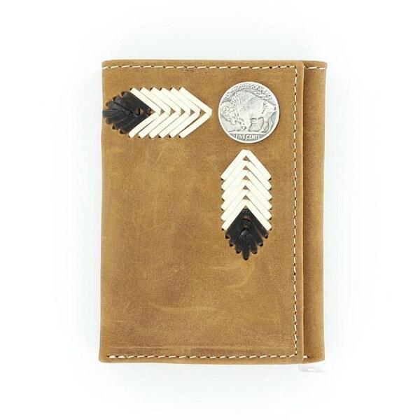 Nocona Western Wallet Mens Trifold Buffalo Nickel Saddle - One size