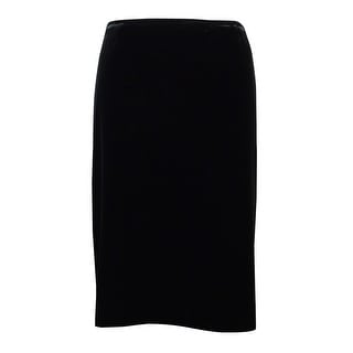Tahari Women's Back Vent Velvet Pencil Skirt - 6