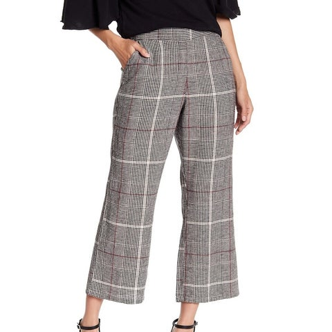Abound Black Red Women's Size XXL Plus Plaid Printed Dress Pants